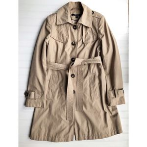 DKNY Camel Belted Trench Coat